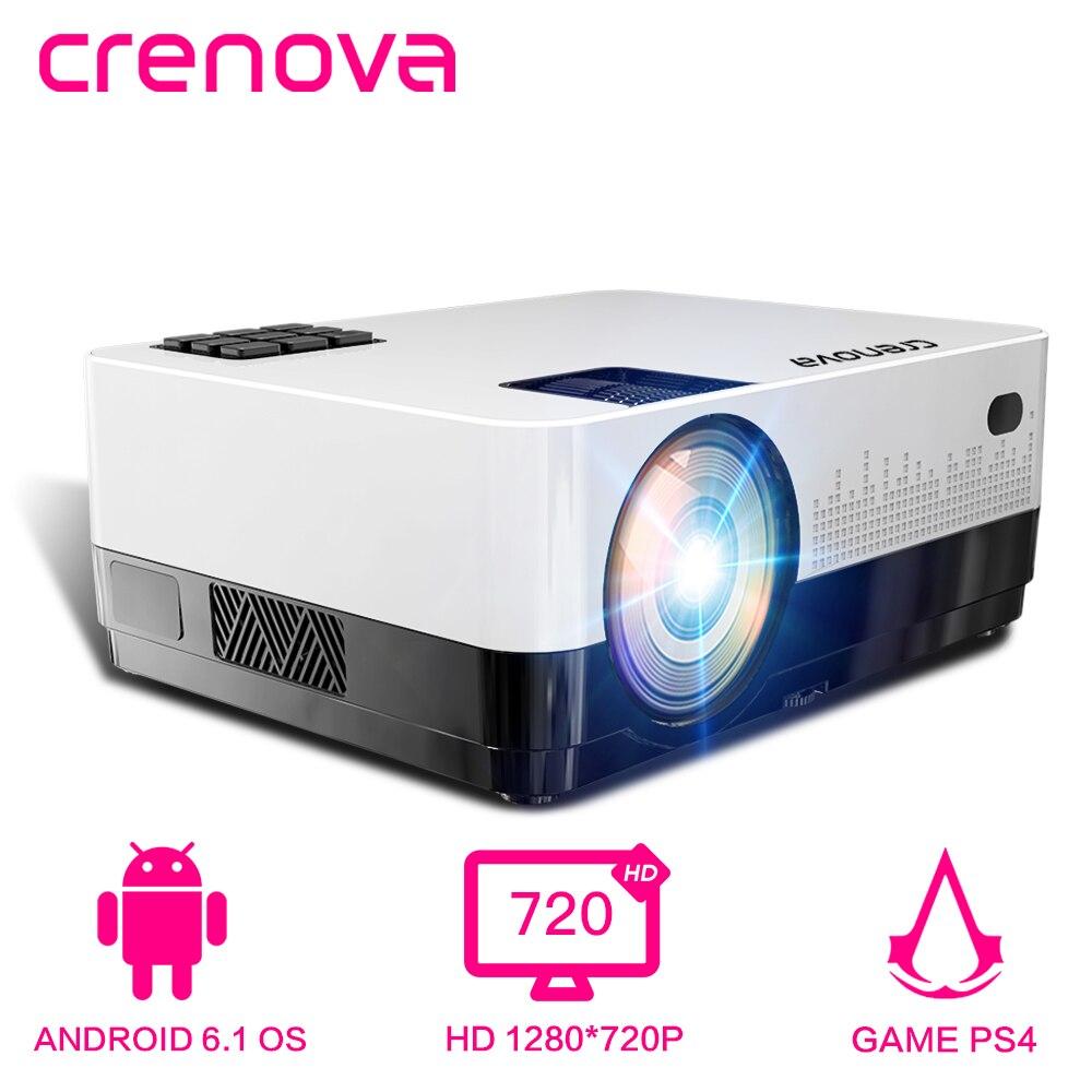 CRENOVA proyector de vídeo más nuevo con Android 4300 lúmenes WIFI Bluetooth HD 1280*728 P proyector de cine en casa beamer-in Proyectores de cine doméstico from Productos electrónicos on AliExpress - 11.11_Double 11_Singles' Day 1