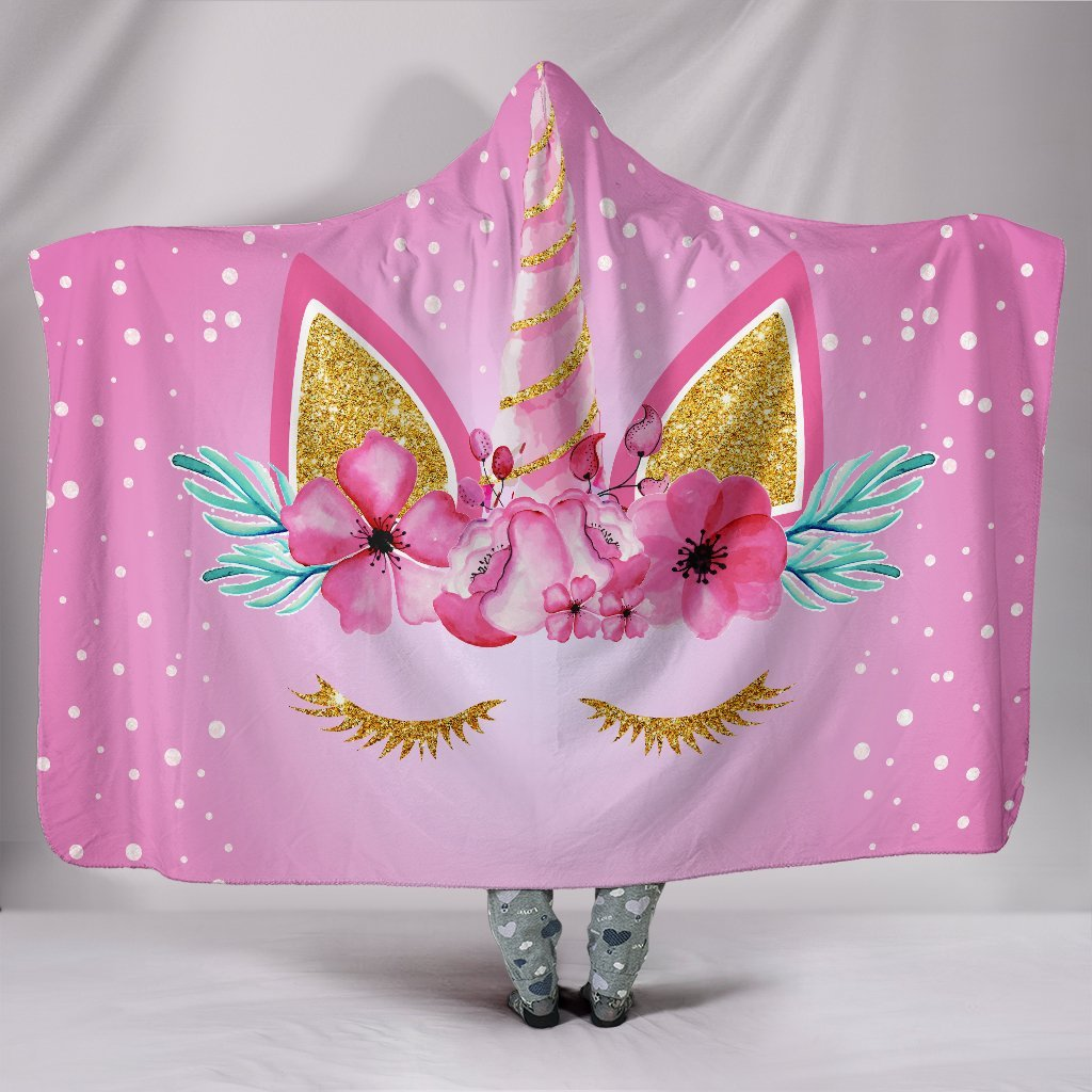 PINK POLKA DOTS FLORAL UNICORN 3D HOODED BLANKET STORE FOR SALE woman fashion new 2019 cloth coat spring winter cloth women