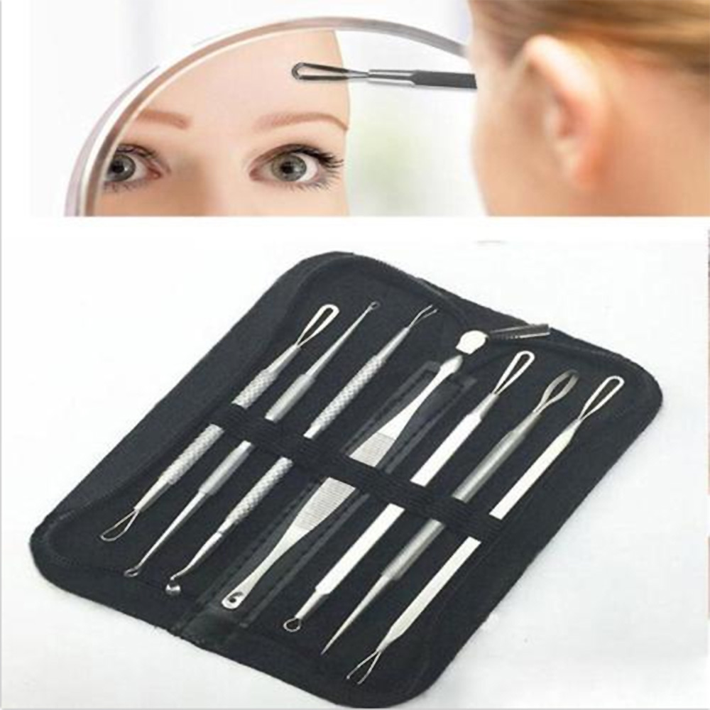 7PCs Pro Makeup Blackhead Remover Kit Premium Blackhead Acne Comedone Pimple Blemish Extractor Remover Tool Health Care Tool in Face Skin Care Tools from Beauty Health