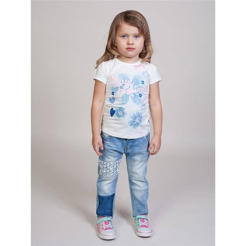 [Available with 10.11] denim pants for girls bleached ripped pockets denim pants