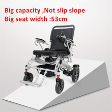 2019  Free shipping Big seat wides: 53CM;  cheap price disabled folding electric wheel chair with lithium battery