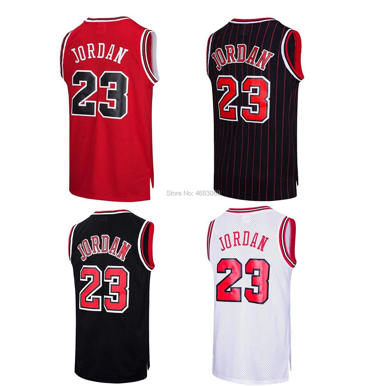 AIFFEE Sports   Tank     Tops   Shirts #23 Throwback Swingman JORDAN Classics Jersey Red Black White Stripe Stitched US STOCK