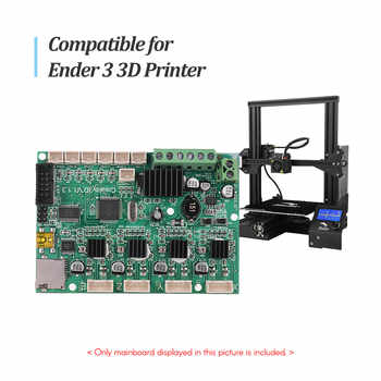 Creality 3D Printer Mainboard Replacement Control Board Motherboard + LCD Display with Cable for Ender 3 Accessory