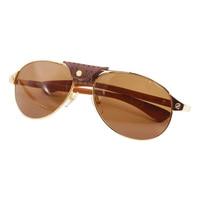 DHL Free Pilot Wood Sunglasses Men Carter Glasses Frame for Women Santos Sun Glasses Retro Design Decoration Eyewear Accessories