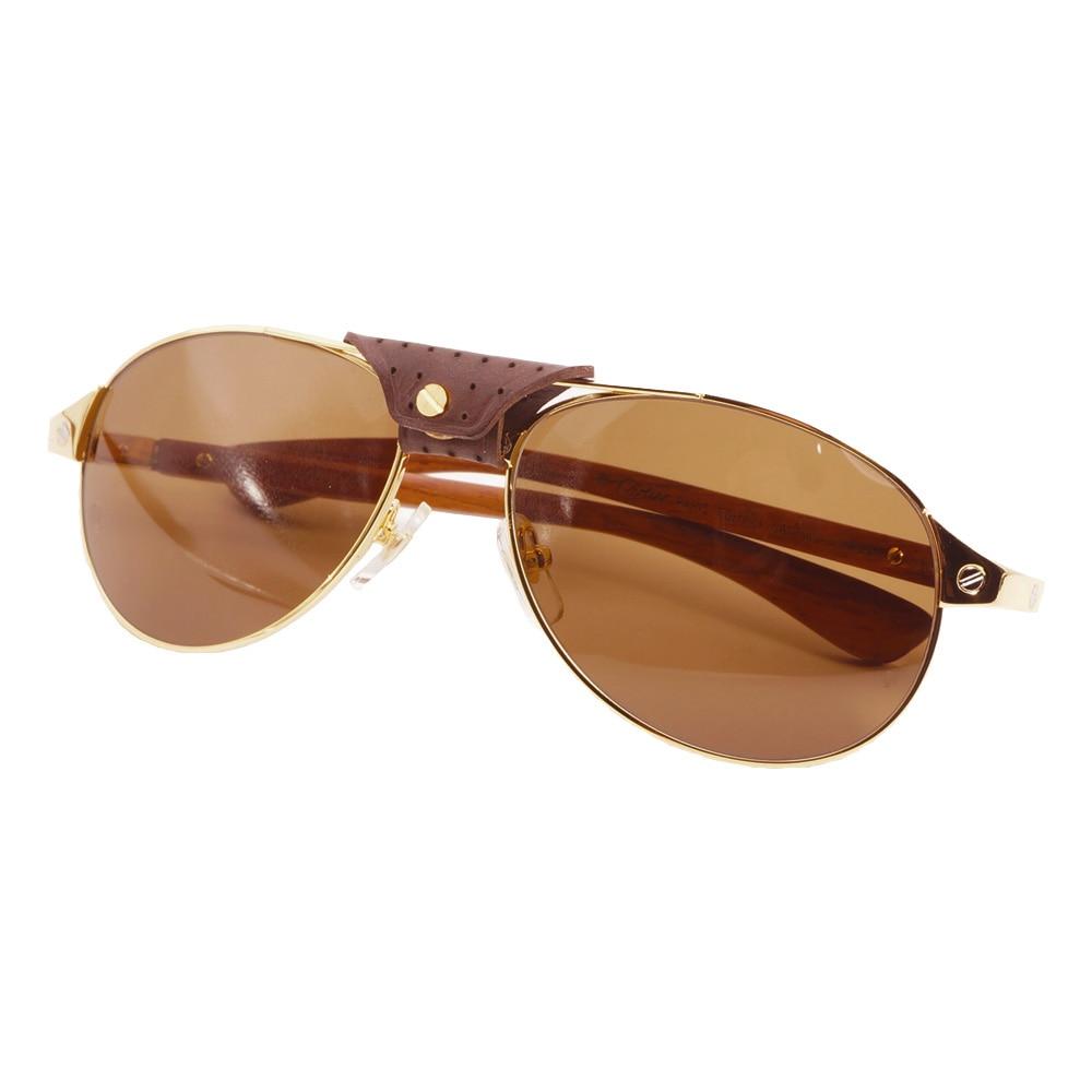DHL gratuit pilote bois lunettes de soleil hommes Carter lunettes cadre pour femmes Santos lunettes de soleil Design rétro décoration accessoires lunettes