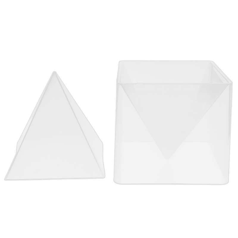 Super Pyramid Silicone Mould Resin Craft Jewelry Crystal Mold With Plastic Frame Jewelry Crafts Resin Molds
