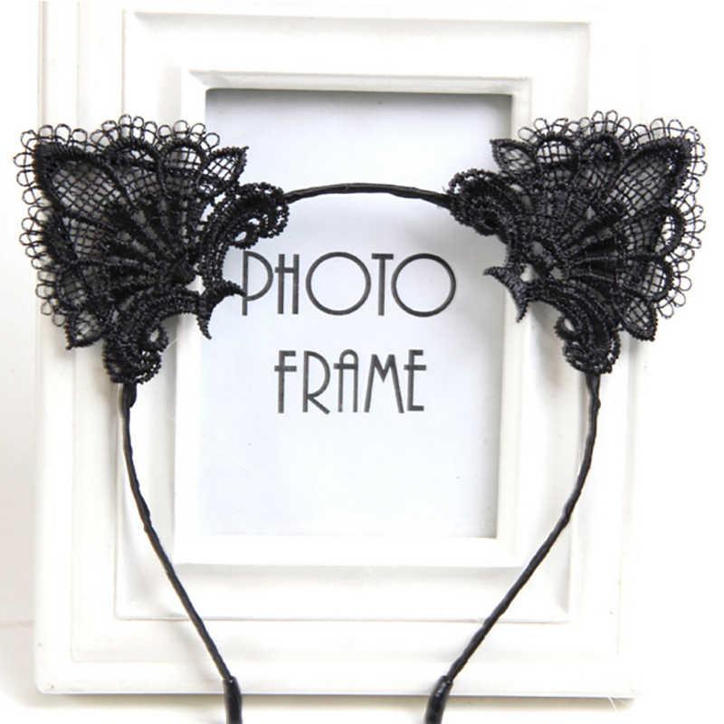 2019 mulheres meninas orelhas de gato headbands headwear rendas pérola strass liga bandana hairband cabelo hoop party pageant baile de formatura nova venda
