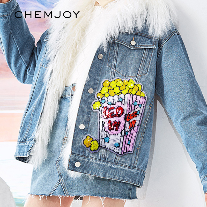 Cute mix food Jacket t-shirt jeans shoes bag Iron//Sew on Embroidered Patches
