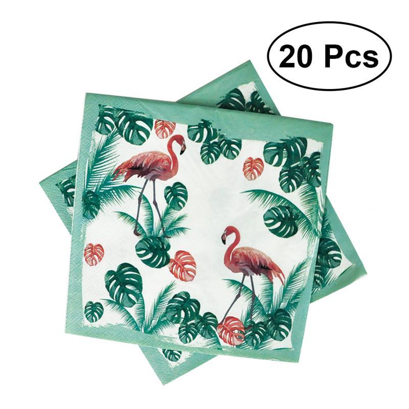 Doelstelling 20 Pcs Cartoon Gedrukt Kleurrijke Papier Servet Flamingo Zomer Tissue Papieren Handdoek Voor Party Festival Verjaardag Bruiloft Duidelijke Textuur