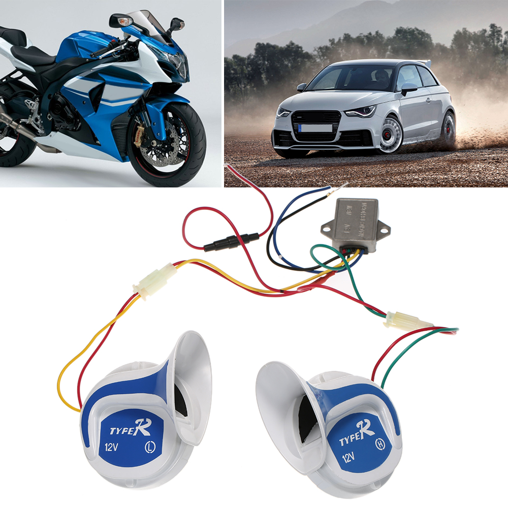 2PCs 12V 120DB Digital Electric Loud Air Horn 20 Sounds Car Truck Motorcycle Accessories For Bmw Ford Vw Mazda Jetta Toyota