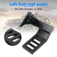 Metal Car Interior Decoration Driver Dead Pedal Left Side Foot Rest Kick Panel For Wrangler JL 2018 Accessories Car Styling
