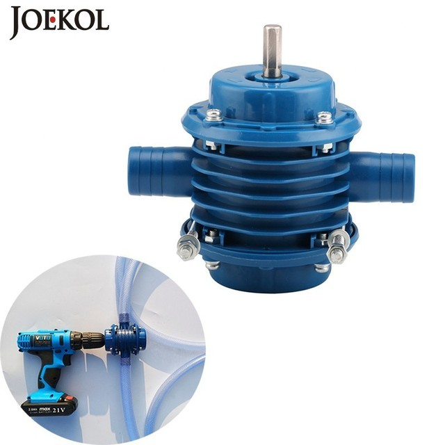 Free Shipping Outdoors Mini Self Priming Hand Electric Drill Water Pump Diesel Oil Pump For Home Garden,No Power Source
