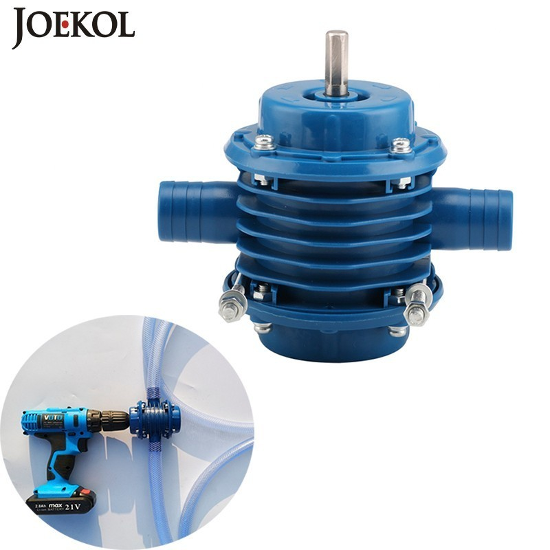 Free Shipping Outdoors Mini Self-priming Hand Electric Drill Water Pump Diesel Oil Pump For Home Garden,No Power Source