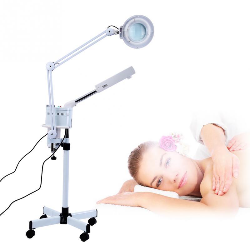 3 en 1 UV Ozone visage vapeur lumière froide LED 5X loupe lampadaire visage corps tatouage maquillage lampe visage vapeur AU Plug