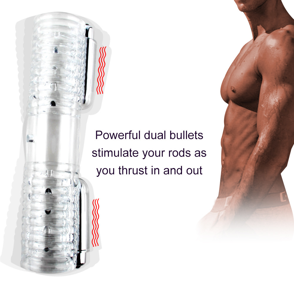 DIBE Double Stroker Adult Sex Toy Men Penis Massager 2 Male Masturbator Trainer Gay Homosexual Love Couple Vibrator New Style