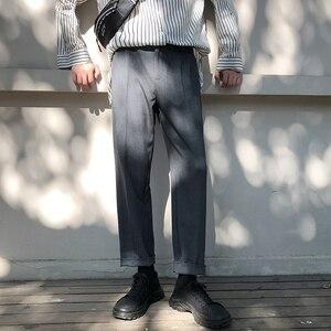 Image 3 - 2019 bahar trendi japon versiyonu okul rüzgar pantolon erkekler gevşek rahat düz renk basit Sweatpants