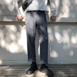 Image 3 - موضة الربيع 2019 النسخة اليابانية من سراويل الرياح المدرسية للرجال فضفاضة غير رسمية بلون بسيط Sweatpants