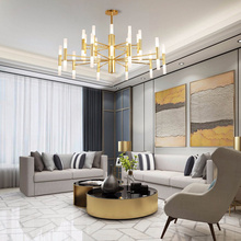 Nordic G4 Gold Chandeliers Modern Luxury Hotel Hall Restaurant Led Chandelier Iron Ceiling Lamp Luminarias Lighting traditional crystal chandeliers lighting gold palace light luxury hotel lamp for restaurant diameter40cm guaranteed100% 9052