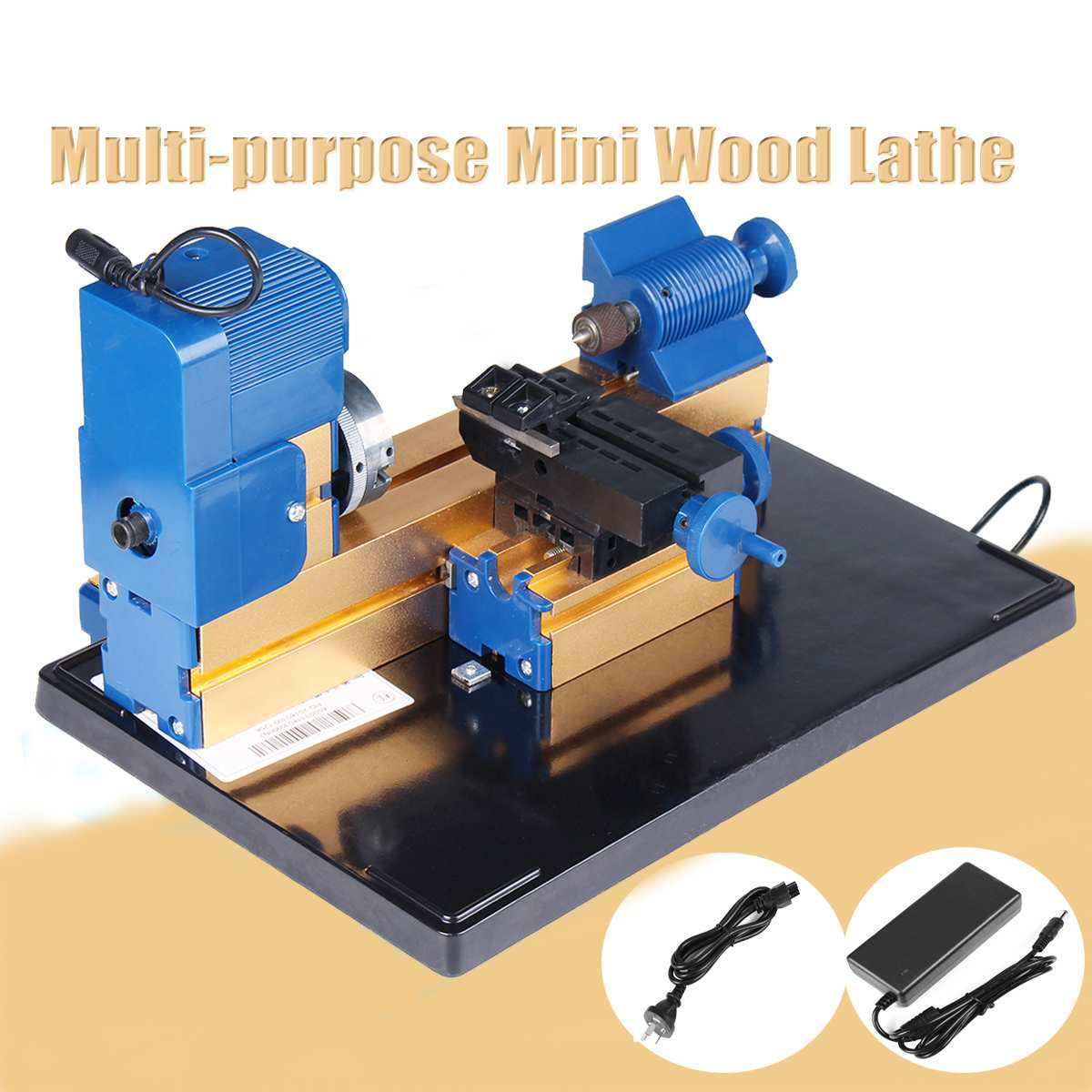DC 12V 24W 2A Multifunction Mini Wood Lathe Motorized Jig-saw Bead Grinder Driller Woodworking Turning Cutting Bead Tool