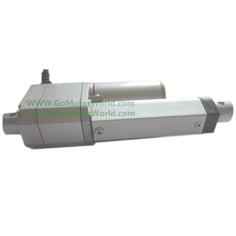 12 V 24 V 200mm course 500N charge 20 mm/s vitesse avec Potentiomètre POT signal rétroaction linéaire actionneur