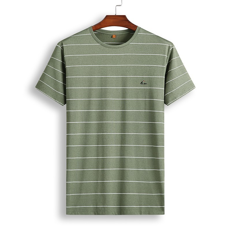 8XL 7XL Polo Shirt Men's Business Casual Summer Breathable Short Sleeve Striped Polo Shirt Cotton Of High Quality 81931 Poles 34