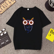 Hot Selling Women T shirt High Quality Fashion Owl Print Short Sleeve O Neck Cotton Tee Femme Loose Tops