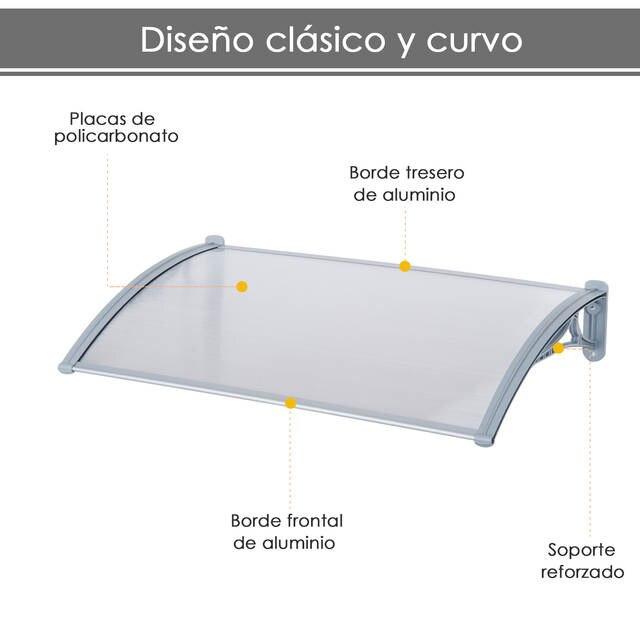 Outsunny Marquesina Techo Canopy Para Ventanas Puertas Toldo