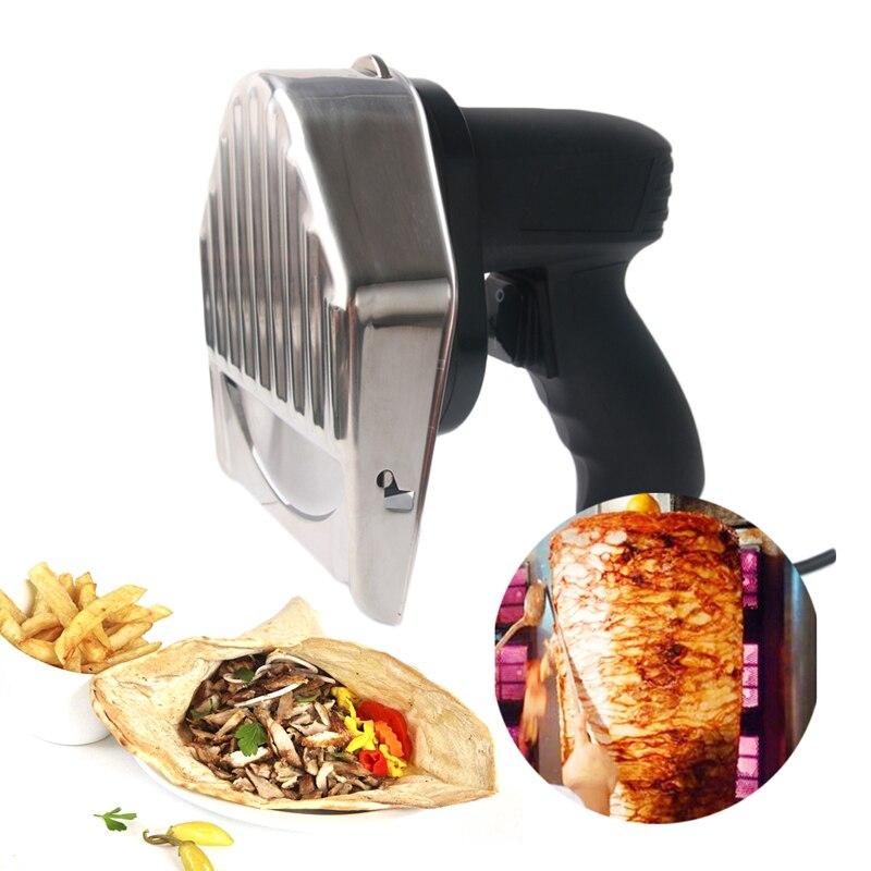 Elektryczny Shawarma Kebab krajalnicy Kebab nóż Gyros nóż/żyroskop/Cutter z 2 ostrza Shawarma ekspres do Doner maszyna certyfikat CE w Szatkownice i krajalnice od Dom i ogród na  Grupa 1
