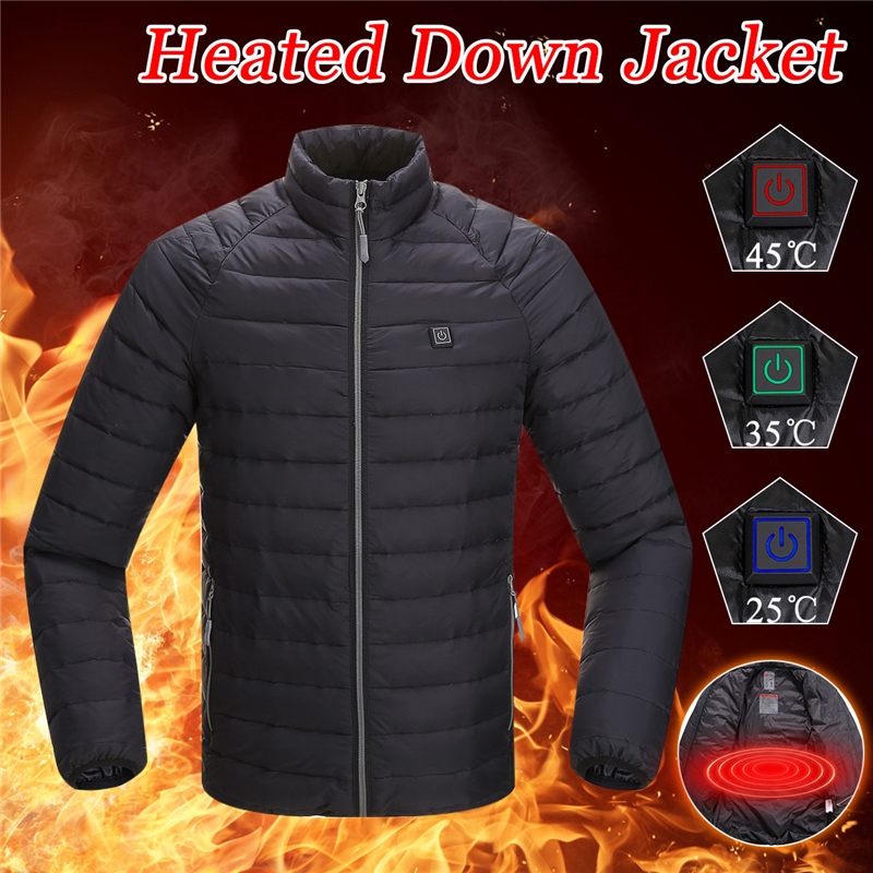 2018 Best Upgraded Men Outdoor USB Infrared Heating Vest Jacket Winter Carbon Fiber Electric Thermal Clothing WaistcoatWarm цена в Москве и Питере