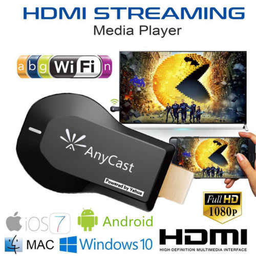Tampilan Wifi Anycast M9 Ezcast Miracast Setiap Cast Air Bermain HDMI 1080 P TV Stick Wifi Display Receiver Dongle untuk IOS Android