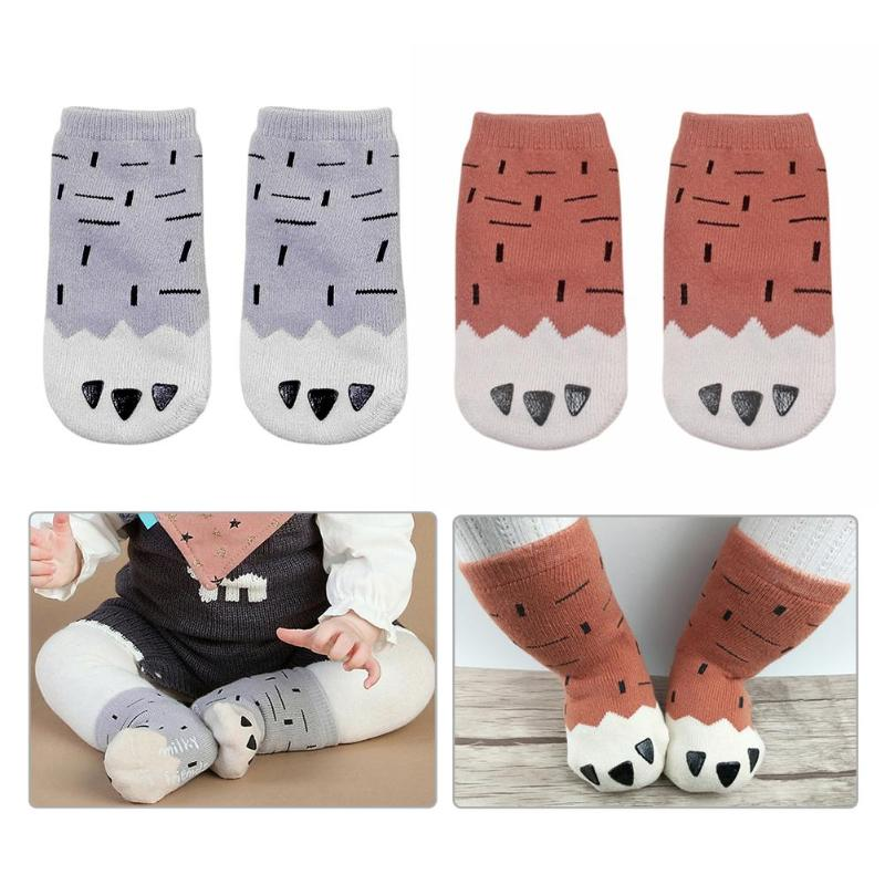 Autumn Winter Hot Baby Kids Cute Cartoon Cat Paw Print Socks Newborn Infant Toddler Soft Cotton Sock Comfortable Ankle Socks цена