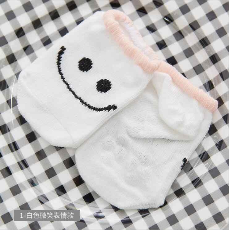 MAYA STEPAN Baby Floor Boy Girl Kid dzieci Smile niemowlę bawełna antypoślizgowy maluch pantofel skarpety w paski noworodka tanie rzeczy