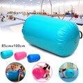 85x 100 CM Aufblasbare Custom PVC Runde Gymnastik Gym Air Matte Boden Home GYM Gymnastik Übung Aufblasbare Luft Taumeln Matte strahl