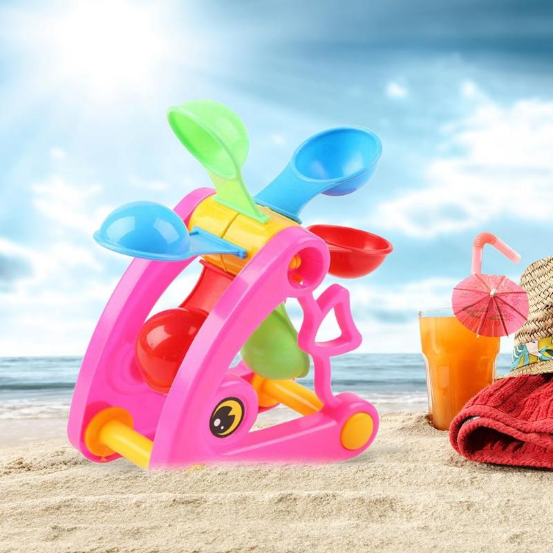 Summer Kid Windmill Waterwheel Toys Swimming Pool Play Sand Water Beach Toy  Kit Play Toy Children Dredging Tools