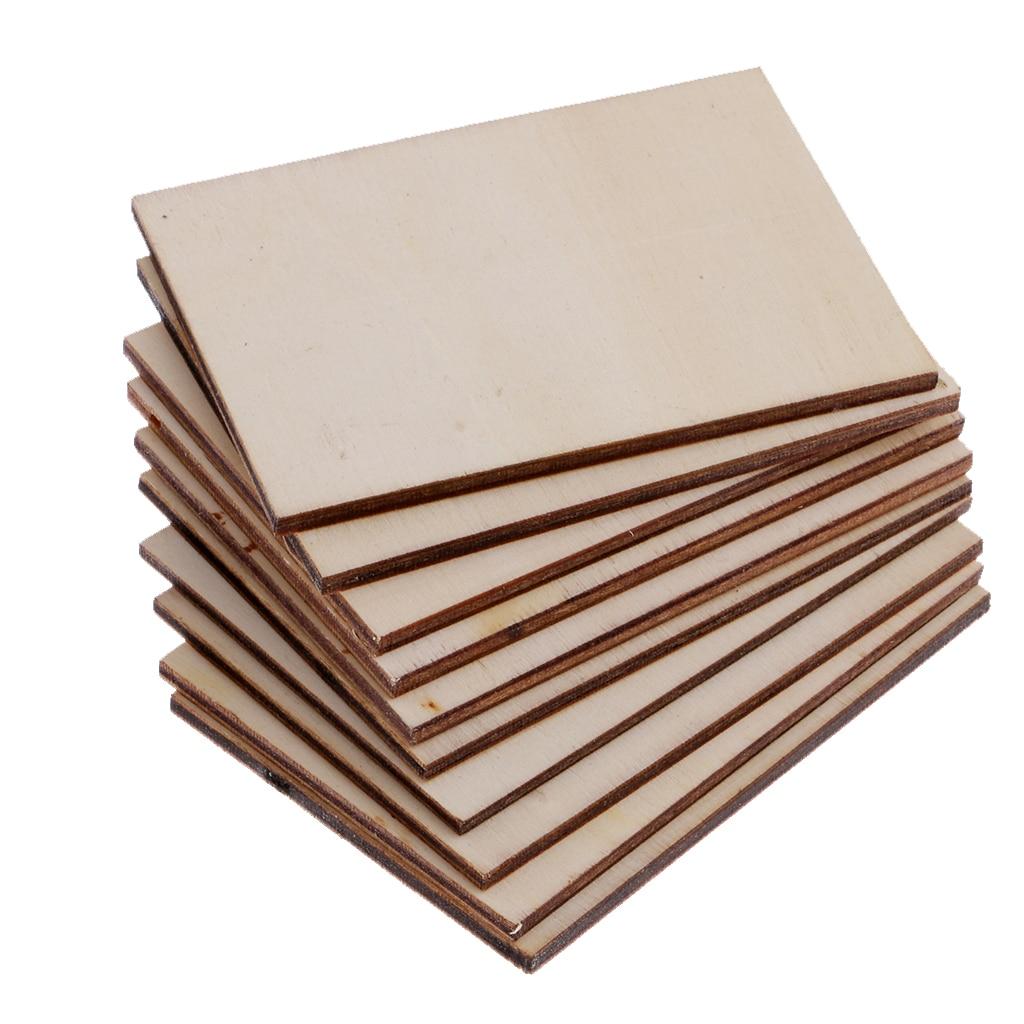 30 stücke Großhandel 70x49mm Blank Sperrholz Holz Visitenkarte Holz Name Karte Unfinished Holz Plaque Formen Zeichen DIY Decor Handwerk