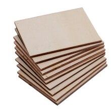 30 Uds al por mayor 70x49mm madera contrachapada en blanco tarjeta de negocios Tarjeta De Nombre de madera placa de madera sin terminar formas signo DIY manualidades decorativas
