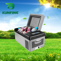 110 240V AC Car Refrigerator 15L Multi Function Fridge Vehicel Protable Refrigerator Freezer Cooler Grey low energy