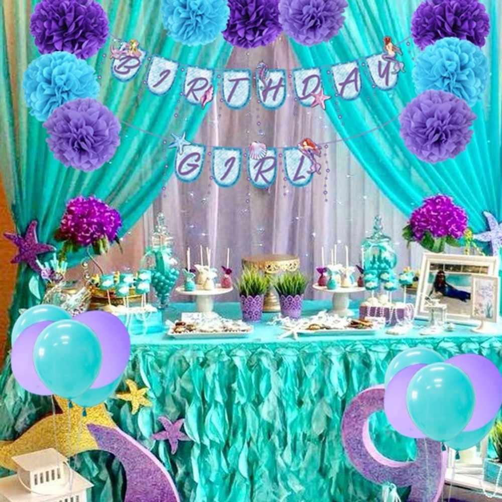 Kids Birthday Decorations Mermaid Party Decorations ...