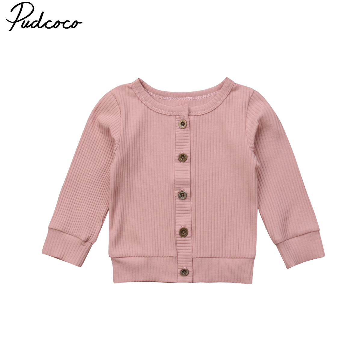 Pudcoco 0-24Moths Casual Newborn Infant Baby Girl Long Sleeves Knitted Sweater Cardigan Coat Tops 5 Colur