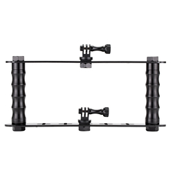 Hot Deals Sports Camera Handheld Stabilizer Balance Bracket Aluminum Double Card Dive Photography Accessories