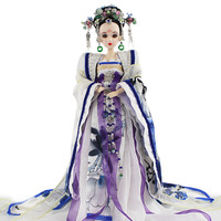 Genuine East Rhyme Ancient Ancient Costume A Doll Pianist White Dew Manual Gift A Doll Collection Play Send Gifts Things