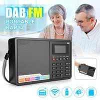 Portable Digital Radio FM/DAB/DAB Mini Radio Speaker Speaker MP3 USB Alarm Clock for Elder's Parents Birthday Christmas Gift