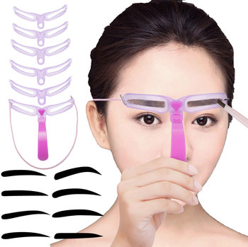 8Pcs/Set Eyebrow Stencils Makeup Shaping Defining Grooming Drawing Eyebrow Template Reusable Design Eyebrows Tool Styling Tool