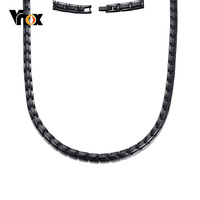 Vnox 20 inches Magnetic Health Care Necklace Choker Balance Power Promote Blood Circulation Jewelry