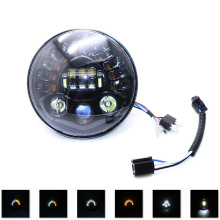 7 Inch LED Motorcycle Headlight with Hi/Lo Beam Projector Motor Round Headlamp