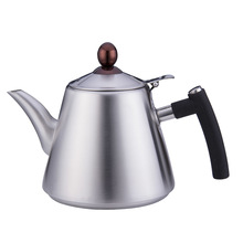 цена на Food grade 304 stainless steel pot electromagnetic furnace boiler gas covered flat bottom kungfu teapot water kettle 1.2L