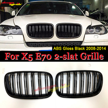 xDrive30i xDrive35i xDrive48i For X5 E70 Injection mold ABS Grille Front Kidney Grille Gloss Black For X5 X5M E70 Grille 2008-14 молдинги wen kai 14 x5 14 x5 x5 x5