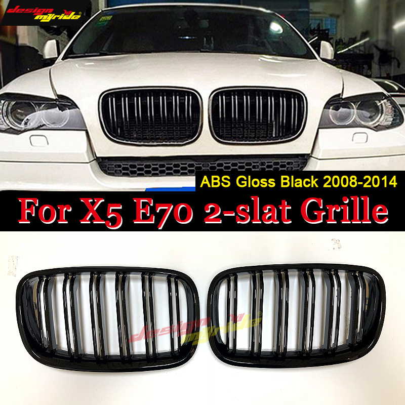 xDrive30i xDrive35i xDrive48i For X5 E70 Injection mold ABS Grille Front Kidney Grille Gloss Black For X5 X5M E70 Grille 2008 14