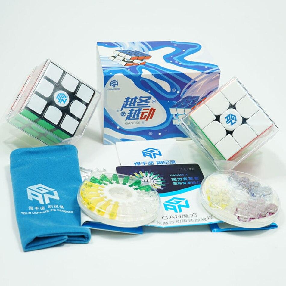 GAN356 X Magnétique Cube 3x3 Magic Cube Vitesse Gan356X 356X Gan Cube 3*3 Remplacement Aimants Professionnel cubo Magico 3x3 Jouets