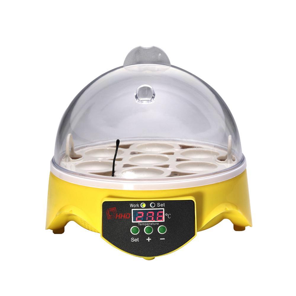 Adeeing Smart 7 Eggs Incubation Equipment Temperature Control Duck Bird Chicken Automatic Incubator